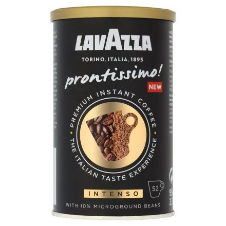 Lavazza Prontissimo Intenso Premium Coffee with 10% Microground Beans 95g Tin